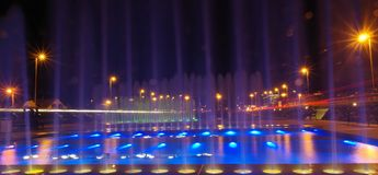Fountains. Taken with DSLR camera at Zagreb - Croatia Royalty Free Stock Photo