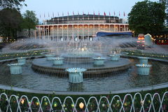 Fountains in Tivoli, Copenhagen Stock Image