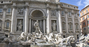 The Fountains of Trevi in Rome, Italy. Work of Bernini, Baroque Architect royalty free stock photo
