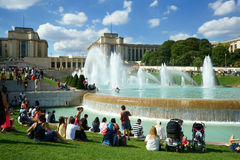 Fountains Trocadero Paris Royalty Free Stock Images