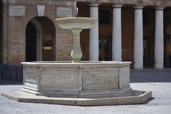 Fountains in Urbino Royalty Free Stock Photo