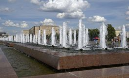 Fountains in Victory Park Royalty Free Stock Image