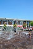 Fountains in Williamson Square, Liverpool. Royalty Free Stock Photos