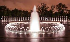 Fountains at World War II Memorial Royalty Free Stock Photo