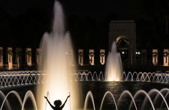 Fountains at World War Two memorial Stock Image