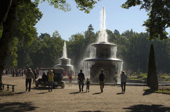 Fountains 'Roman Candles' (Peterhof) Royalty Free Stock Images