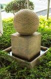 Fountaint de piedra de la bola Imágenes de archivo libres de regalías