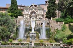 Fountian bij Villa D ` Este in Tivoli, Italië Royalty-vrije Stock Afbeelding