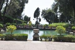 Fountian bij Villa D ` Este in Tivoli, Italië Stock Foto's