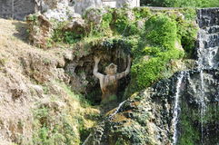 Fountian bij Villa D ` Este in Tivoli, Italië Royalty-vrije Stock Afbeeldingen