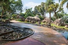 fountian in Garden of Doi Tung Royal Villa, Chiang Rai, Thailand Stock Photo