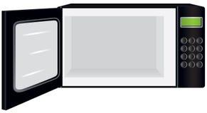 Four à micro-ondes avec la porte ouverte Photo libre de droits