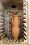 Four à poterie de l'intérieur Photo libre de droits