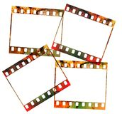 Four 35mm slides, Royalty Free Stock Photo