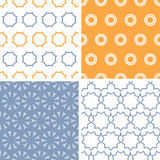 Four abstract arrows and circles motives seamless Royalty Free Stock Photography
