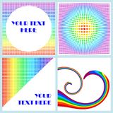 Four abstract background with rainbow colors Stock Photo