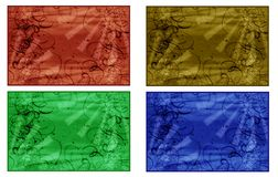 Four abstract backgrounds Royalty Free Stock Images