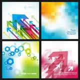 Four abstract backgrounds. Vector art Stock Images