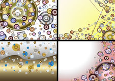 Four abstract backgrounds Royalty Free Stock Photos