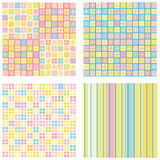 Four of abstract backgrounds Royalty Free Stock Images