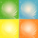 Four abstract backgrounds in different colors Stock Photos