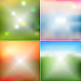 Four abstract backgrounds Stock Photo
