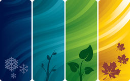 Four abstract backgrounds stock illustration