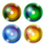 Four abstract ball. Set of four abstract ball Royalty Free Stock Photos
