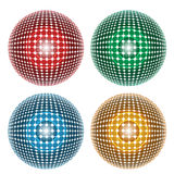 Four abstract ball. Set of four abstract ball Royalty Free Stock Photography
