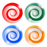 Four Abstract Ball With Spiral Royalty Free Stock Images