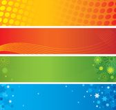 Four abstract banners Royalty Free Stock Images