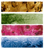 Four abstract banners Royalty Free Stock Photos