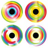 Four abstract circles Stock Photo