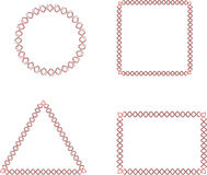 Four Abstract Geometric Frames Stock Photo