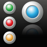 Four abstract icon sphere button Royalty Free Stock Images