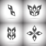 Four abstract logo Stock Images
