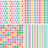 Four abstract pastel colors seamless simple pattern eps10 Royalty Free Stock Photography