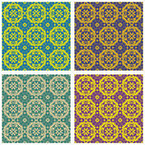 Four abstract patterns seamless Royalty Free Stock Photography
