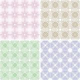 Four abstract seamless backgrounds Royalty Free Stock Image