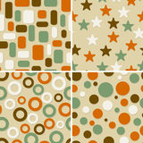 Four abstract  seamless patterns Royalty Free Stock Photos