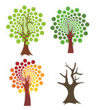 Four abstract trees. Stock Image