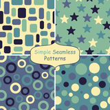 Four abstract vector seamless patterns Stock Image