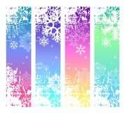 Four abstract vertical winter banners Royalty Free Stock Photo