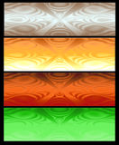 Four Abstract web banner royalty free stock image