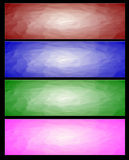 Four Abstract web banner Stock Image
