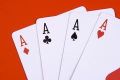 Four ace Stock Photography