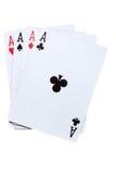 Four ace combination. Stock Photos