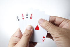 Four Ace in Hand Stock Photography