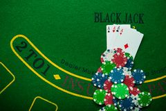 Four ace in poker game Royalty Free Stock Image