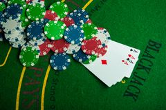 Four ace in poker game Royalty Free Stock Photography